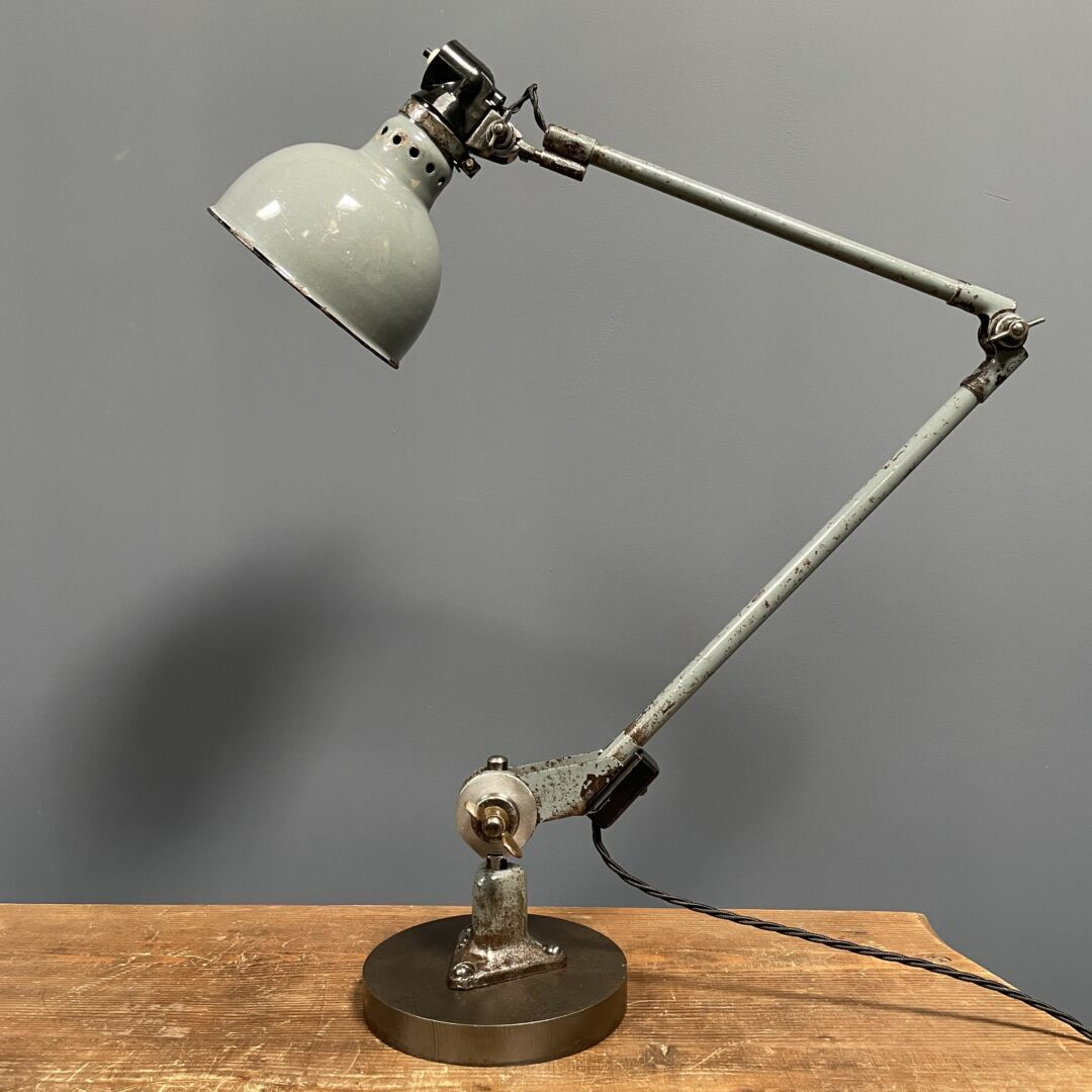 Grote lichtgrijze Rademacher machinelamp