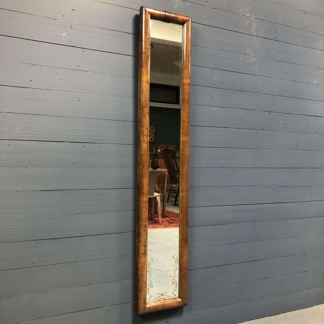 Schitterende antieke smalle spiegel
