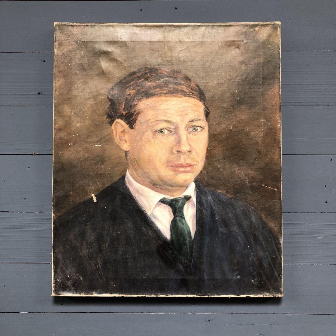 Oud schilderij van een man