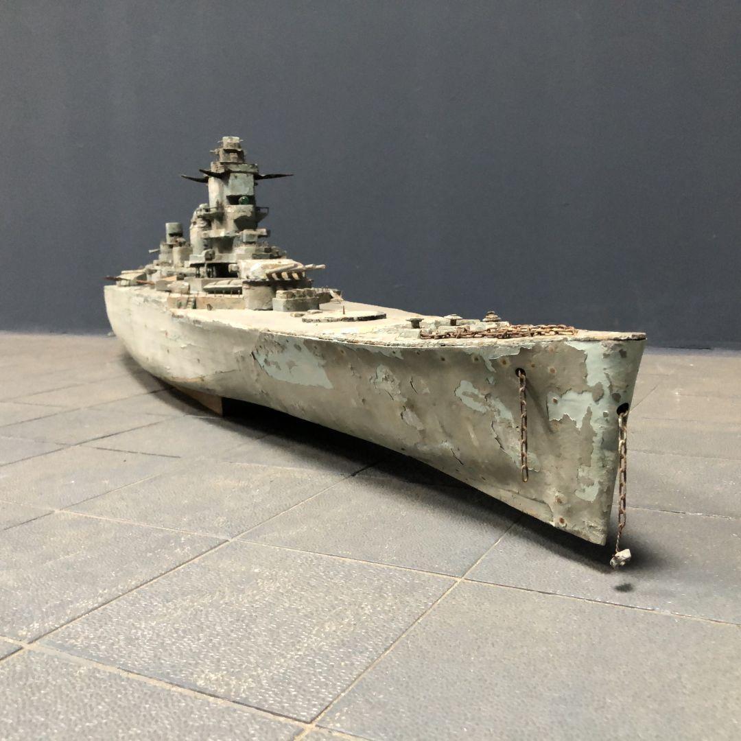 Groot volkskunst WOII slagschip