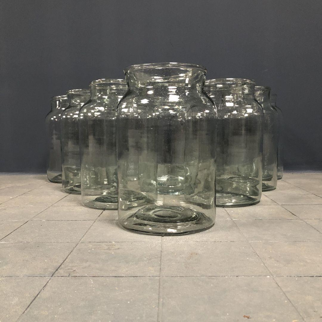 Grote glazen Hongaarse weckpotten