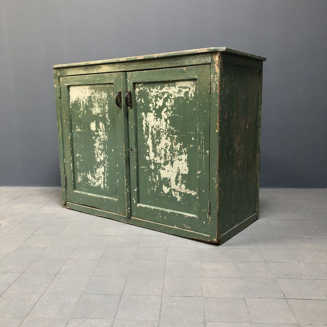 Oude Groene Werkplaats Kast Bert Co Vintage