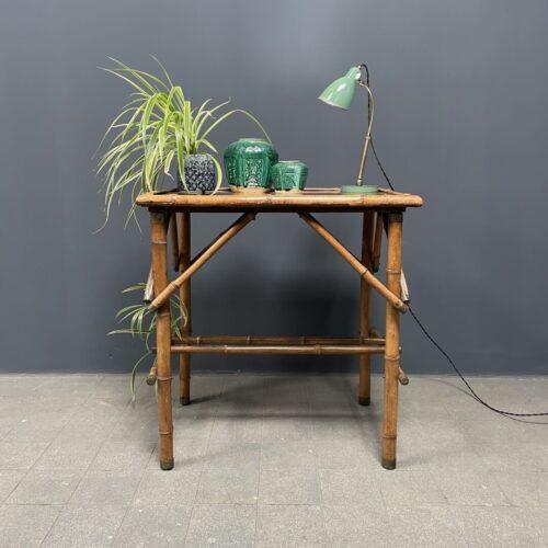 Bamboe bijzettafel met spiegel blad