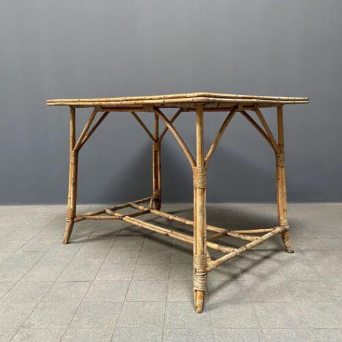 Bamboe terrastafel met houten blad