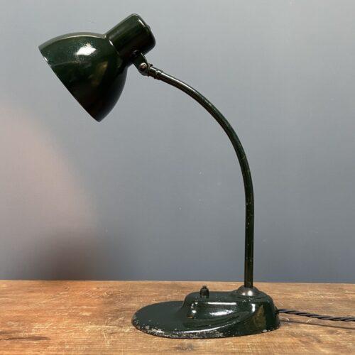 Donkergroene Kandem bureaulamp model 1087