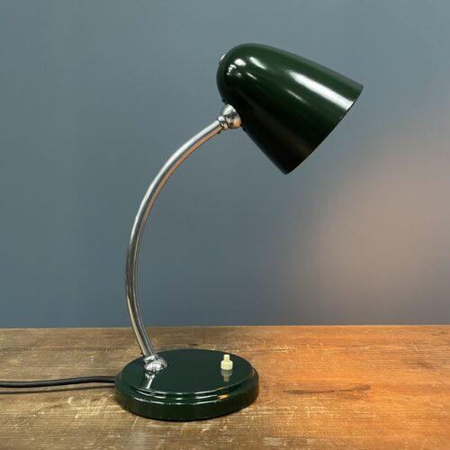 Donkergroene Zeiss-Ikon bureaulamp model Jz 6