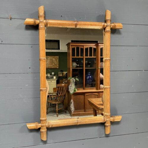 Faux bamboe spiegel uit 1928