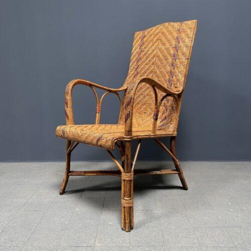 Schitterende geweven rotan lounge stoel
