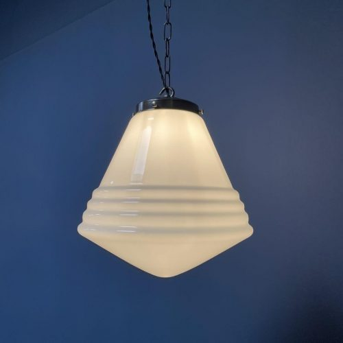 Grote opaline glazen hanglamp van Philips