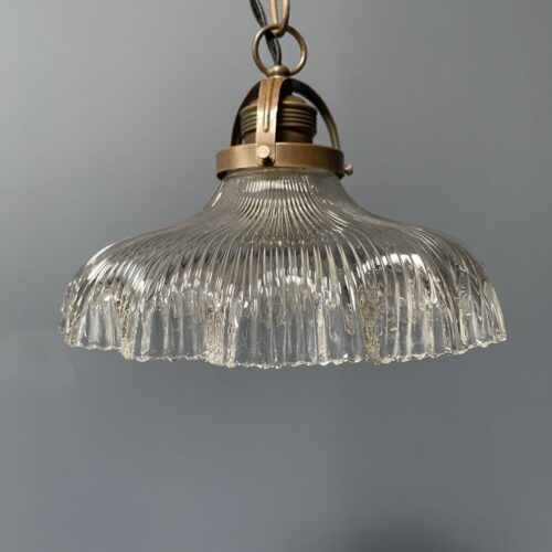 Holophane hanglamp met gegolfde rand