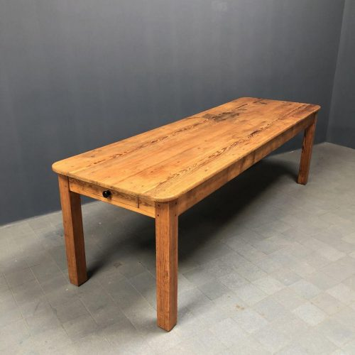 Grote oude pitch pine kloostertafel