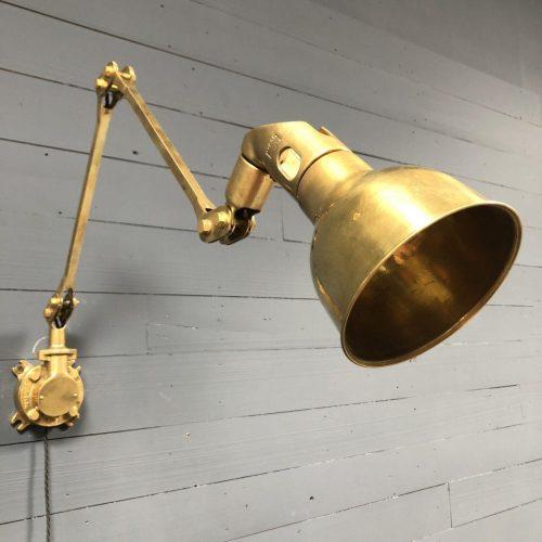 Zeldzame messing Mek Elek machinelamp