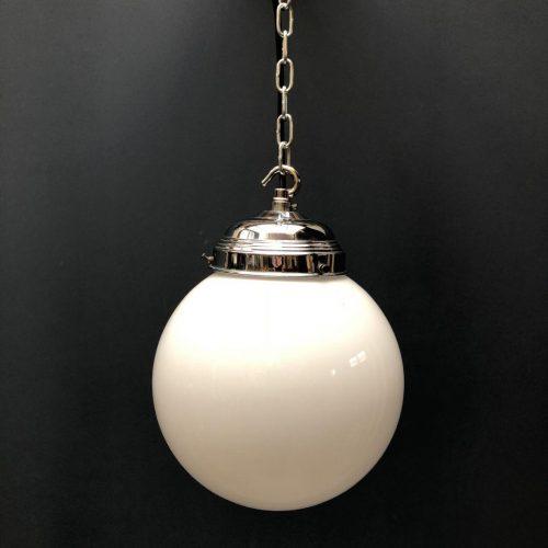 Opaline glazen hang lamp
