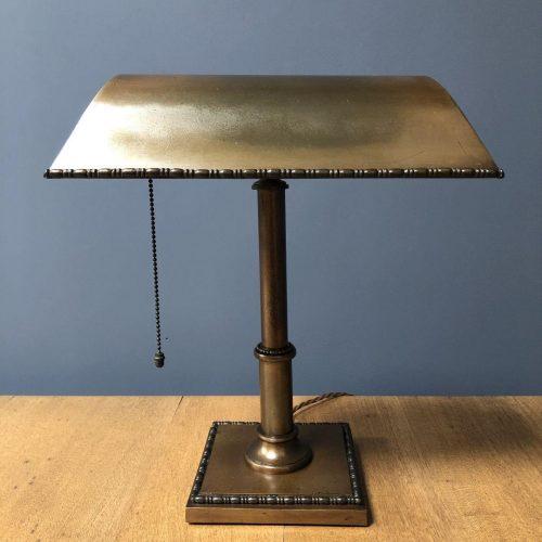 Messing bureaulamp uit Engeland