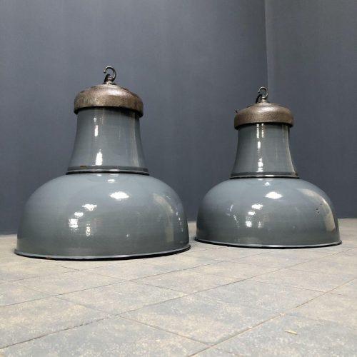 Prachtige Schaco emaille fabriekslamp
