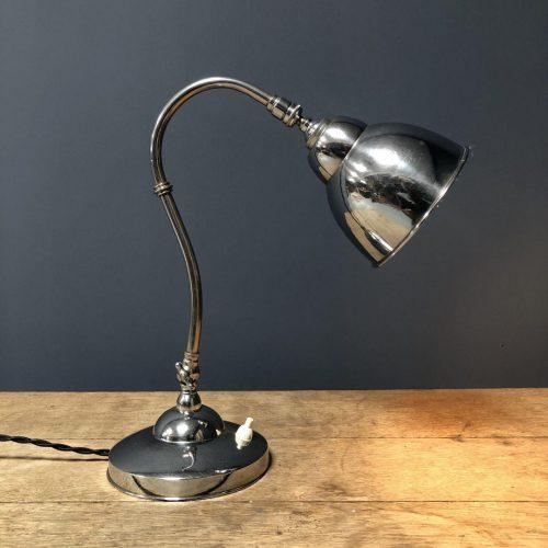 Vernikkelde Franse bureaulamp