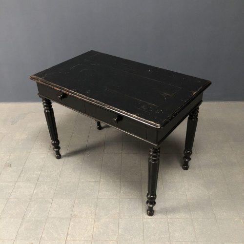 Zwart bureau met laden uit Frankrijk