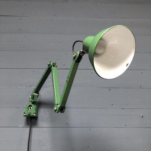Groene Engelse EDL wandlamp