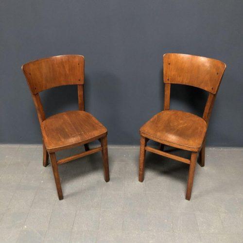 Set van twee Poolse cafe stoelen