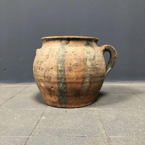 Schitterende antieke sleetse pot