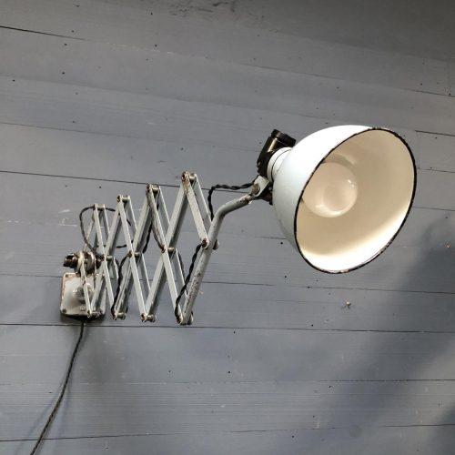 Zeldzame lichtgrijze Rademacher schaarlamp