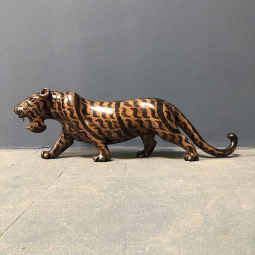 Grote vintage tijger van hout