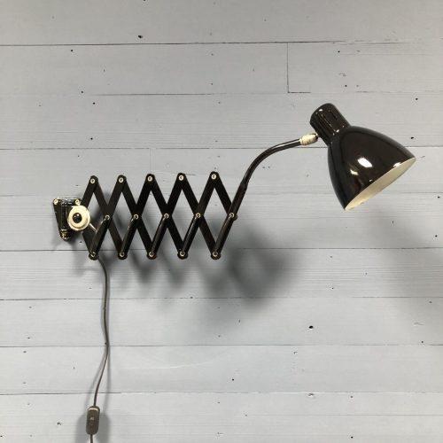 Zwarte metalen schaarlamp uit België