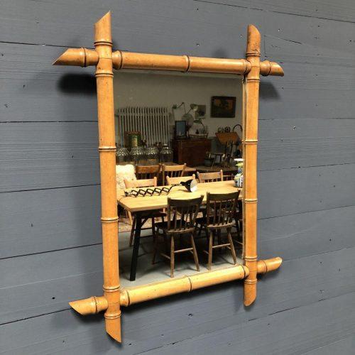 Faux bamboo spiegel