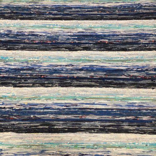Groot Zweeds vloerkleed met blauwe kleuren