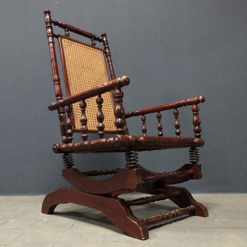 Antieke Hollandse schommelstoel