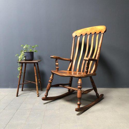 Engelse Windsor schommelstoel