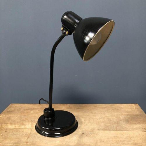 Zwarte Bauhaus bureaulamp