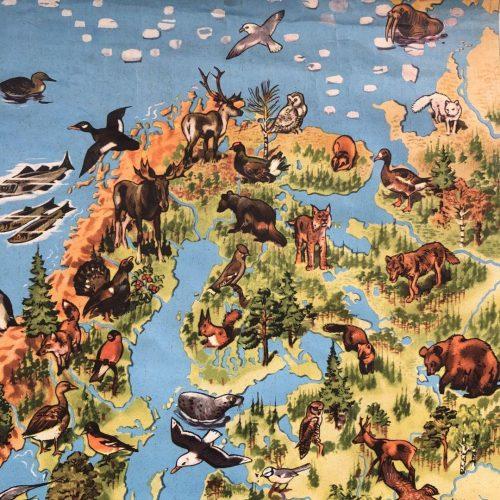 Landkaart van Europa met flora en fauna