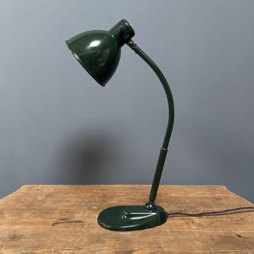 Grote donkergroene Kandem bureaulamp