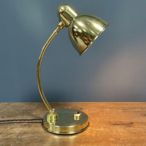 Oude Nederlandse messing bureaulamp