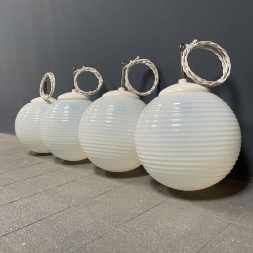 Parelmoer opaline glazen hanglampen