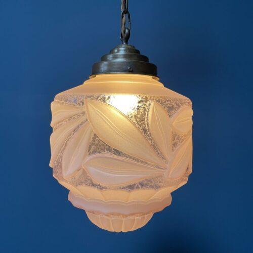 Glazen art nouveau hanglamp
