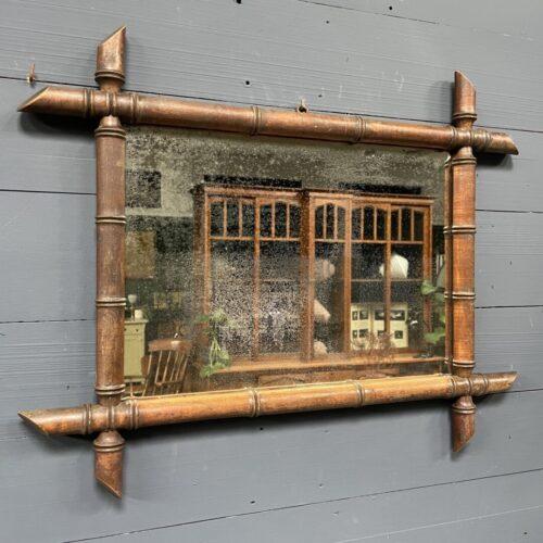 Sleetse faux bamboo spiegel uit Frankrijk