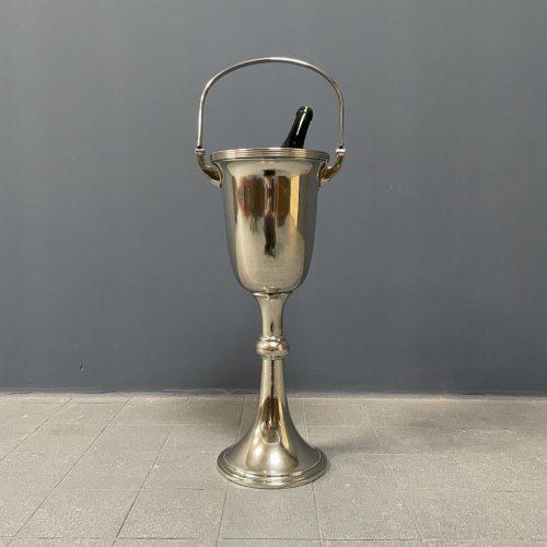 Staande verzilverde art deco champagne koeler