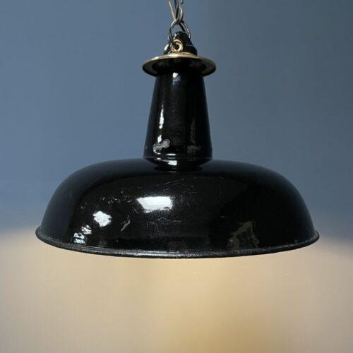 Zwart emaille Schaco hanglamp