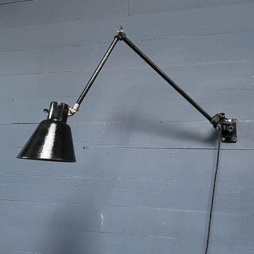 Zwarte Schaco wandlamp